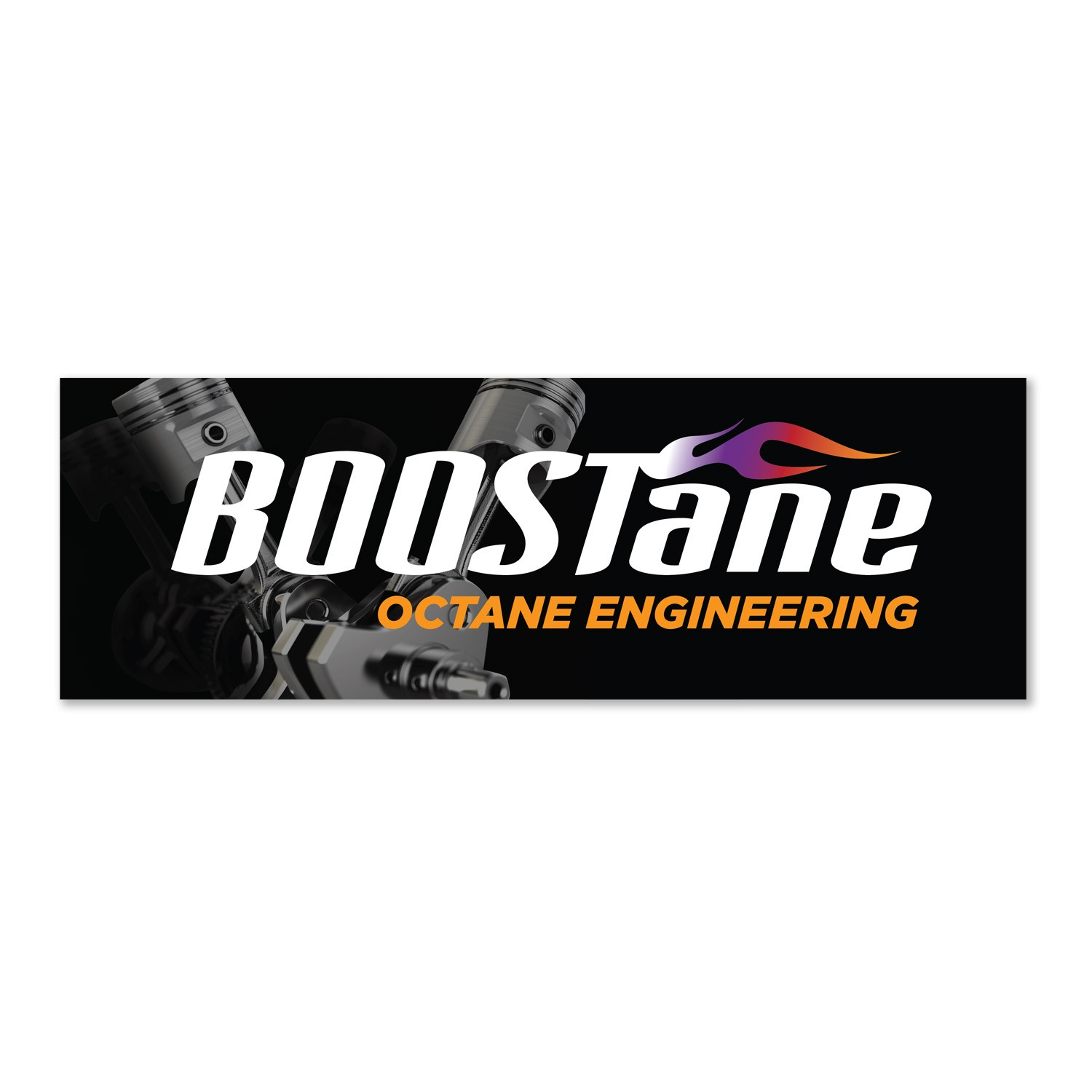 BOOSTane sticker piston large