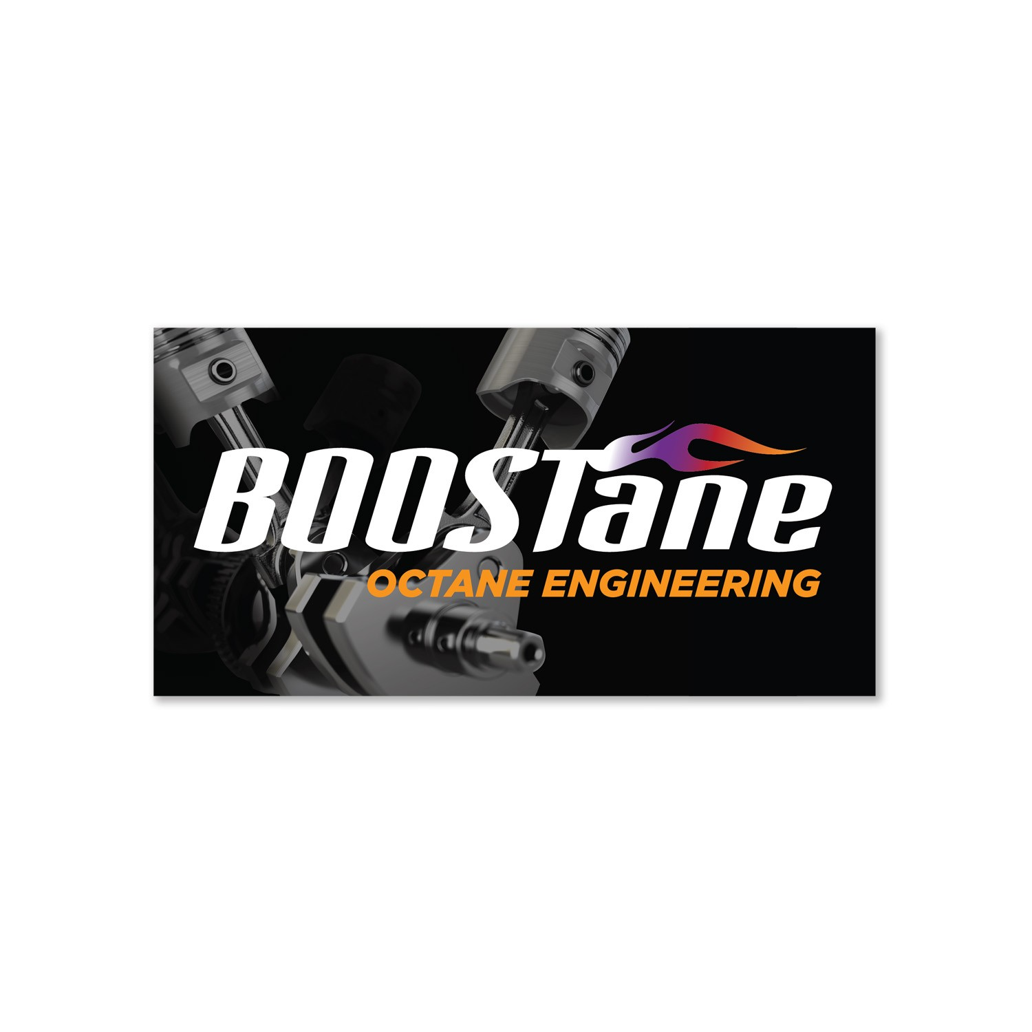 BOOSTane sticker piston small